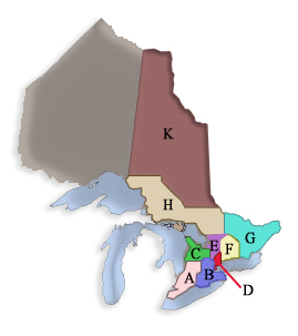 Ontario Command District Map